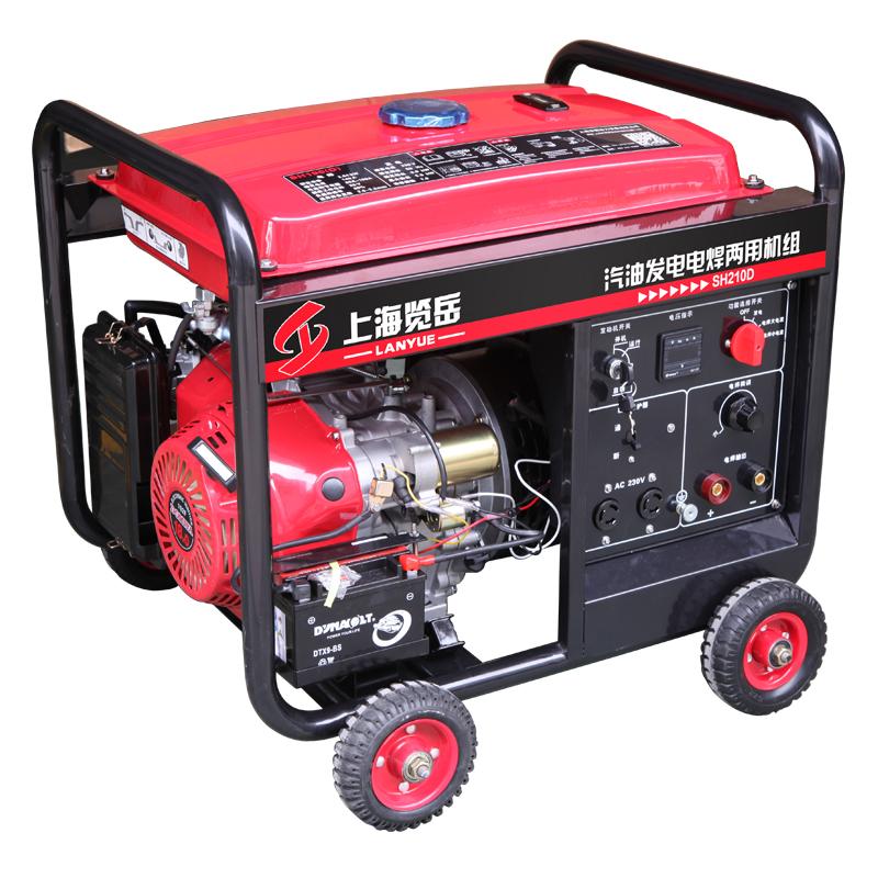 200A汽油单相发电电焊两用机组 SH210D电动