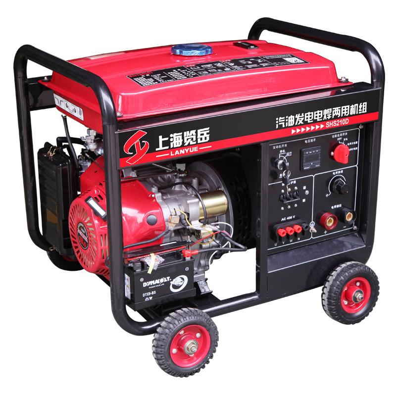 200A汽油三相发电电焊两用机组SHS210D 电动