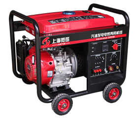 140A汽油三相发电电焊两用机组 SHS190手启动