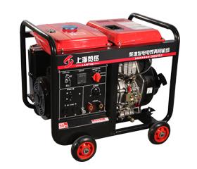 200A柴油单相发电电焊两用机组DMD210LE 电动